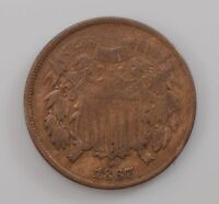 1867 TWO-CENT PIECE Q88