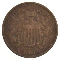 1866 TWO-CENT PIECE J02