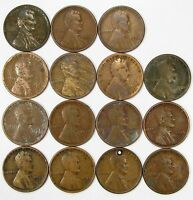 LOT OF 30 1925 D 1C LINCOLN WHEAT CENT PENNIES LOW / MID GRADE 87101