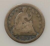 1853-P SEATED LIBERTY SILVER HALF DIME 307