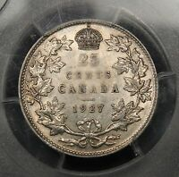 Click now to see the BUY IT NOW Price! 1927 CANADA SILVER 25 CENTS AU 53 PCGS.  DATE. BV $900. MAKE AN OFFER.
