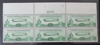 CKSTAMPS: US STAMPS COLLECTION SCOTTC18 50C BLOCK MINT NH OG PERF FOLDED CV$725