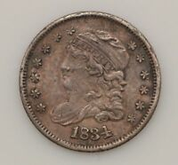 1834 CAPPED BUST SILVER HALF DIME G12