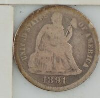 1891 LIBERTY SEATED DIME  Z24