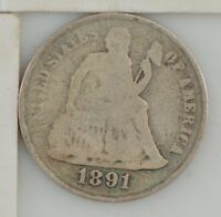 1891 S LIBERTY SEATED DIME  Z65