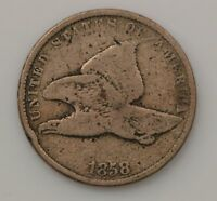 1858 FLYING EAGLE ONE CENT G20
