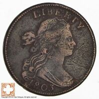 1803 DRAPED BUST LARGE CENT 8439