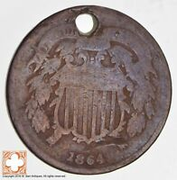 1864 TWO CENT PIECE CONDITION: HOLE 1716