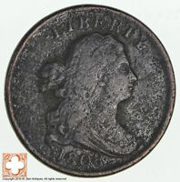 1808 DRAPED BUST HALF CENT 1861