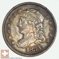 1834 CAPPED BUST HALF DIME 1925