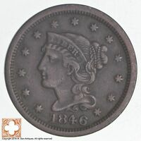 1846 BRAIDED HAIR LARGE CENT - SMALL DATE 4011