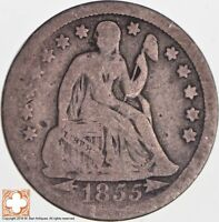 1855 SEATED LIBERTY SILVER DIME 5249