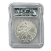 USA AMERICAN SILVER EAGLE SATIN FINISH $1 2007 W ICG SP70 SLAB
