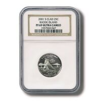 USA RHODE ISLAND STATE QUARTER CLAD 25 CENTS 2001 NGC PROOF 69 ULTRA CAMEO