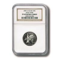 USA NEW YORK STATE QUARTER CLAD 25 CENTS 2001 NGC PROOF 69 ULTRA CAMEO