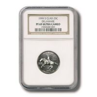 USA DELAWARE STATE QUARTER CLAD 25 CENTS 1999 NGC PROOF 69 ULTRA CAMEO