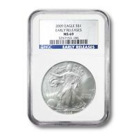 UNITED STATES SILVER EAGLE $1 2009 NGC MINT STATE 69 EARLY RELEASES