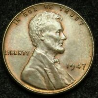 1947 LINCOLN WHEAT CENT PENNY AU ABOUT UNCIRCULATED B01