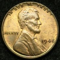 1948 LINCOLN WHEAT CENT PENNY AU ABOUT UNCIRCULATED B03