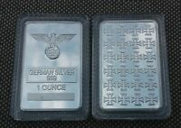 1 OZ  FINE GERMAN SILVER IRON CROSS BAR      W/ AIR TIGHT CASE   LOW PRICE