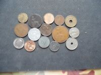 WORLD COINS. 15 PIECES  STARTING WITH 1898 .LOT A86