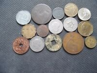 WORLD COINS. 15 PIECES  STARTING WITH 1883 .LOT A 79