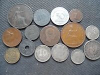 WORLD COINS. 15 PIECES  STARTING WITH 1871 .LOT A 81