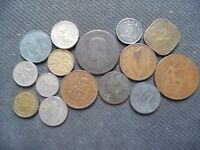 WORLD COINS. 15 PIECES  STARTING WITH 1854 .LOT A 83
