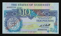 GUERNSEY  P50A  10 POUNDS ND 1980  VF/VF