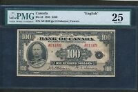 Click now to see the BUY IT NOW Price! 1935 $100 BANK OF CANADA PMG VF 25 ENGLISH. BC 15. BOOK VALUE: $4 750