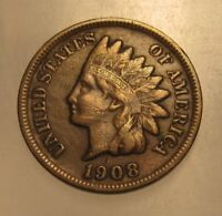 1908 S INDIAN HEAD CENT PENNY   VERY FINE CONDITION   63FR