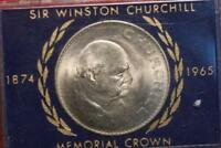 UNCIRCULATED 1965 GREAT BRITAIN CHURCHILL CROWN FOREIGN COIN