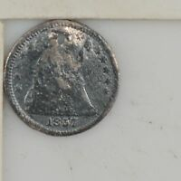 1857 LIBERTY SEATED HALF DIME  Z78