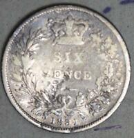 GREAT BRITAIN 1831 6 PENCE SILVER COIN   DAMAGED