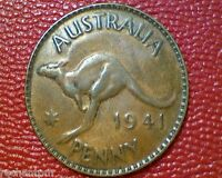 636 1941 KG AUSTRALIA ONE PENNY BETTER DATE TOUGH TO FIND