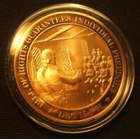 1791 FRANKLIN MINT MEDAL BILL OF RIGHTS GUARANTEES SOLID BRONZE W/AIR TITE