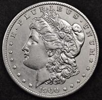 1900 S MORGAN SILVER DOLLAR.  A.U.  116907
