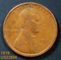 1919 LINCOLN CENT CIRCULATED WHEAT PENNY