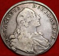 1760 GERMAN STATES BAVARIA THALER SILVER FOREIGN COIN FREE S
