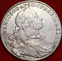 1755 GERMAN STATES BAVARIA THALER SILVER FOREIGN COIN FREE S