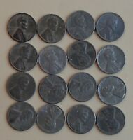 1943 STEEL CENTS  16 COIN LOT