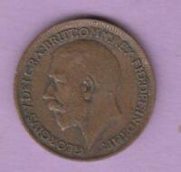 1913 GREAT BRITAIN ONE FARTHING KEY DATE FOR THIS TYPE INV8705