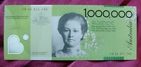 $1 000 000.00 PLASTIC NOVELTY BANK NOTE. PHELAN RICH UNFOLDED  CUTE  FUNNY