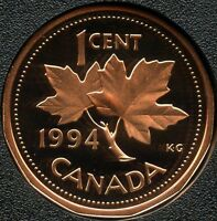 CANADA 1994 PROOF 1 CENT COIN