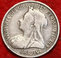 1900 GREAT BRITAIN SHILLING SILVER FOREIGN COIN