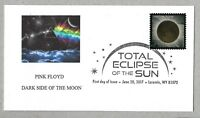 DARK SIDE OF THE MOON. PINK FLOYD. TOTAL ECLIPSE OF THE SUN FDC