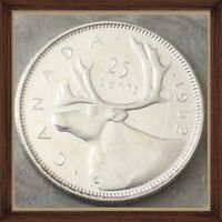1962 CANADA SILVER 25 CENTS  PROOF LIKE  MINT SEALED