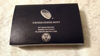 2017 W 1 OZ PROOF PLATINUM 20TH ANNIV AMERICAN EAGLE  W/BOX & COA  NO COIN