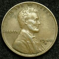 1940 D LINCOLN WHEAT CENT PENNY VF  FINE B02