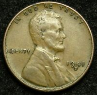 1941 D LINCOLN WHEAT CENT PENNY VF  FINE B04